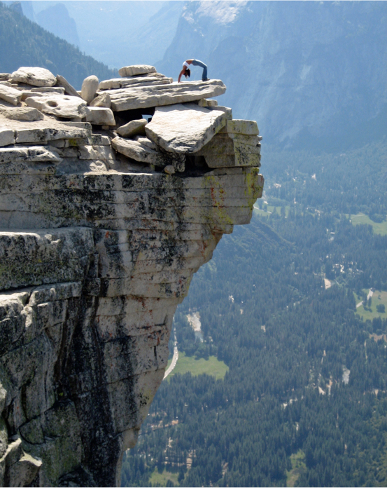 Naz Beheshti on Half Dome